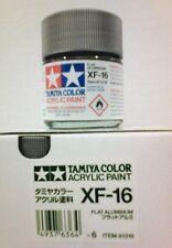 Tamiya acrylic paint. XF-16 Flat aluminum, 23ml.