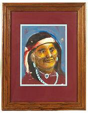 Andy Tsinajinnie (1916-2000)  Navajo Native American Original  Signed Painting