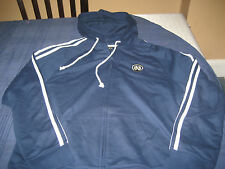 WOMENS ADIDAS NOTRE DAME HOODIE JACKET SIZE L LARGE NAVY/WHITE  NWOT
