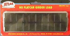 Flat Car Girder Load BY ATLAS HO SCALE  Part # 150-790 BLACK 4 PIECES