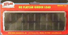 Flat Car Girder Load BY ATLAS HO SCALE  Part # 150-790 BLACK 4 PIECES