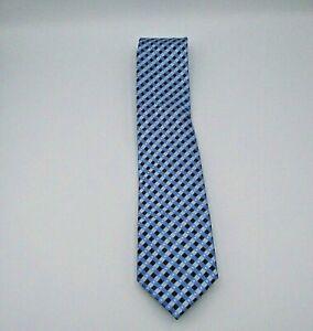"Croft & Barrow Men's Neck Tie Blue, Gray, & Black Geometric Pattern 58"" x 3.75"""