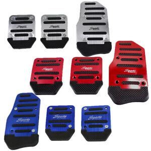 3* Non-Slip Manual Footst Cover Car Foot Pedals Clutch Brake Pad Aluminum