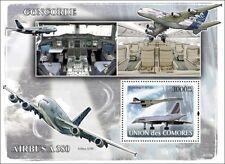 Air France CONCORDE (F-BTSD) & Airbus A380 Aircraft Stamp Sheet (2008 Comoros)