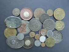 More details for vintage array of old british coins/tokens - in clear bag - unxchecked