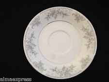 Lynns Fine China OLIVIA Empress Gray & White Flowers - TEA CUP SAUCER