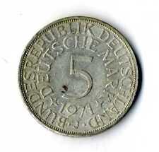 Moneda Alemania 1971 J 5 marcos plata .625 silver coin Deutsche Marck