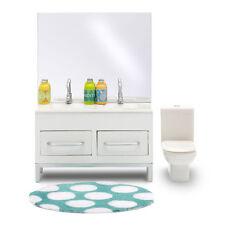 Lundby Stockholm Bathroom Set dollshouse furniture toilet Vanity doll house