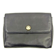 Moschino Clutch bag Black Gold Woman unisex Authentic Used T035