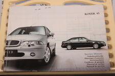 ROVER 45 - GLOVEBOX OWNERS HANDBOOK / SERVICE BOOK 2003-->Edition RCL0547EN
