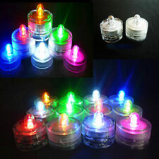 12 Light Up Tea Lights LED Candles Submersible Multi-Color Wedding Party Vase