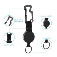 Retractable Keychain Heavy Duty Badge Holder Reel with Multitool Carabiner  YM60