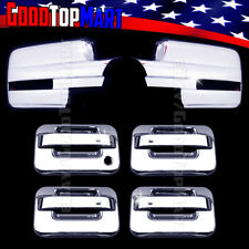 For Ford F150 2009-2013 2014 Chrome Covers Set Full Mirors SIGNAL+4 Doors w/out
