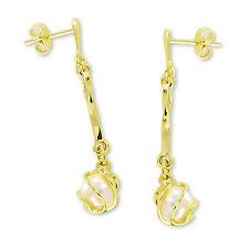 VASCAYA Damen Ohrstecker Hänger Ohrring Süßwasserzuchtperle Gold333 Brautschmuck