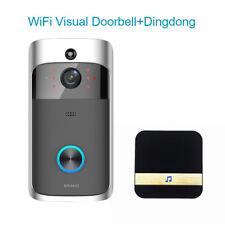 Smart WiFi Doorbell Wireless Visual Camera Intercom IR Audio +Dingdong For IOS