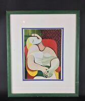 Bel encadrement sous verre pour une photogravure de Picasso