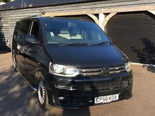 Volkswagen Transporter T5 black LWB2006 1.9TDI Camper Day Van surf bus face lift