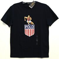 Polo Ralph Lauren Mens Navy Blue Track Star POLO USA T-Shirt NWT Size S
