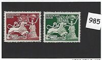 MNH stamp set / 1942 Third Reich issues / Goldsmiths Society / WWII Germany