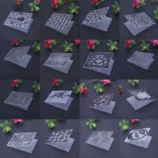 DIY Embossing Folder Template Crafts Plastic Die Cutting Scrapbooking Album Card