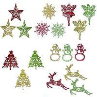 Glitter  Christmas Tree Hanging Baubles Decoration Snowflake Xmas Ornament Decor