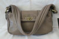 MARC JACOBS TOTALLY TURNLOCK STONE LEATHER HOBO BAG NWT RETAILS $218!!
