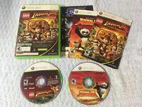 Lego Indiana Jones & Kung Fu Panda Microsoft XBOX 360 - Complete & Clean