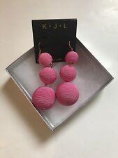Kenneth Jay Lane Dangle Ball Tiered Earrings Pink