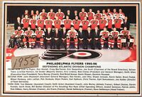 PHILADELPHIA FLYERS 1995-96 Team Card Eric Lindros Ron Hextall NHL