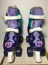 Hannah Montanna Adjustable Quad Size Skates Purple&Lavenger&G reen Sz 1-4