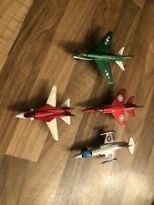 Vintage Matchbox Military Planes 4  Individual Aircrafts - Play worn Condition