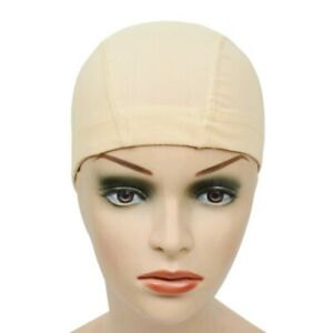 Beige Mesh Wig Cap For Making Wigs Mesh Dome Cap Elastic Band. SMALL SIZE.🇬🇧