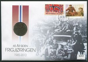 Norway 2010 World War II Resistance with 5 øre 1941 KM#388 iron aVF+