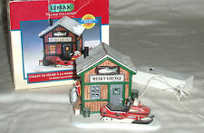 "LEMAX village collection  battery operated "" Musky Lounge "" lighted building"