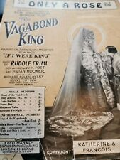 Only a Rose from the Musical Play the Vagabond King by Rudolf Friml Sheet Music