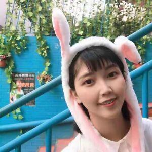 Ear Up Down Rabbit Shape Plush Airbag Headband Pitching Six Colours