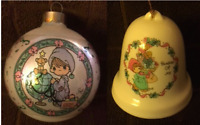 Vintage Precious Moments Christmas Round Joy Ornament Decoration