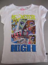 T-Shirt, Shirt, Gr.134-140 Monster High Mattel weiß mit Motiv Kurzarm, schön