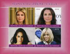 Congo 2018 CTO Ivanka Trump Kate Middleton Meghan Markle 4v M/S I Stamps