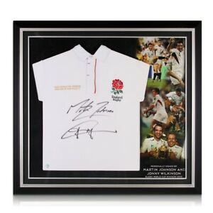 Jonny Wilkinson And Martin Johnson Signed England Rugby Jersey. Premium Frame
