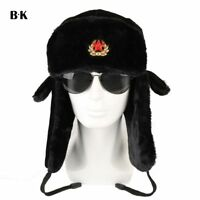 Russian Ushanka Hat Army Winter Military Cap Soviet Soldier Ussr Uniform Fur Cap