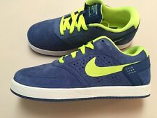 New Nike P-Rod Paul Rodriguez Blue/lime suede skate SB size- 4