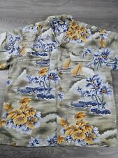 Vintage Tommy Bahama Men's Size XL Floral Hawaiian Shirt 100% Silk All Over