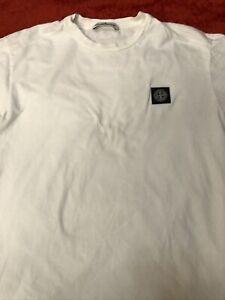 Stone Island Men White T-shirt Sise L
