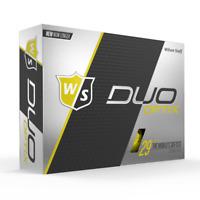 WILSON STAFF DUO OPTIX - YELLOW - 2 DZ GOLF BALLS - NEW!