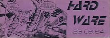 HARD WARE Rave Flyer Flyers 23/9/94 A5 Brixton London Warlock Murf Tony Weech