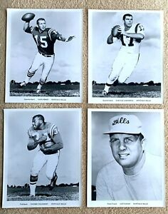 1963 AFL Buffalo Bills 35 Team Issue Photos: Kemp, Lamonica, Gilchrist, Saban+++