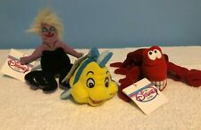 Disney Mini Bean Bags from The Little Mermaid, Flounder, Ursula, and Sebastian