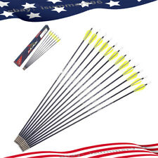 "6/12/24Pcs 26"" Fiberglass Arrows Practice Beginner Target Point training Archery"
