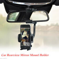Car Rearview Mirror Mount Holder Stand Cradle Cell Phone Universal Adjustment